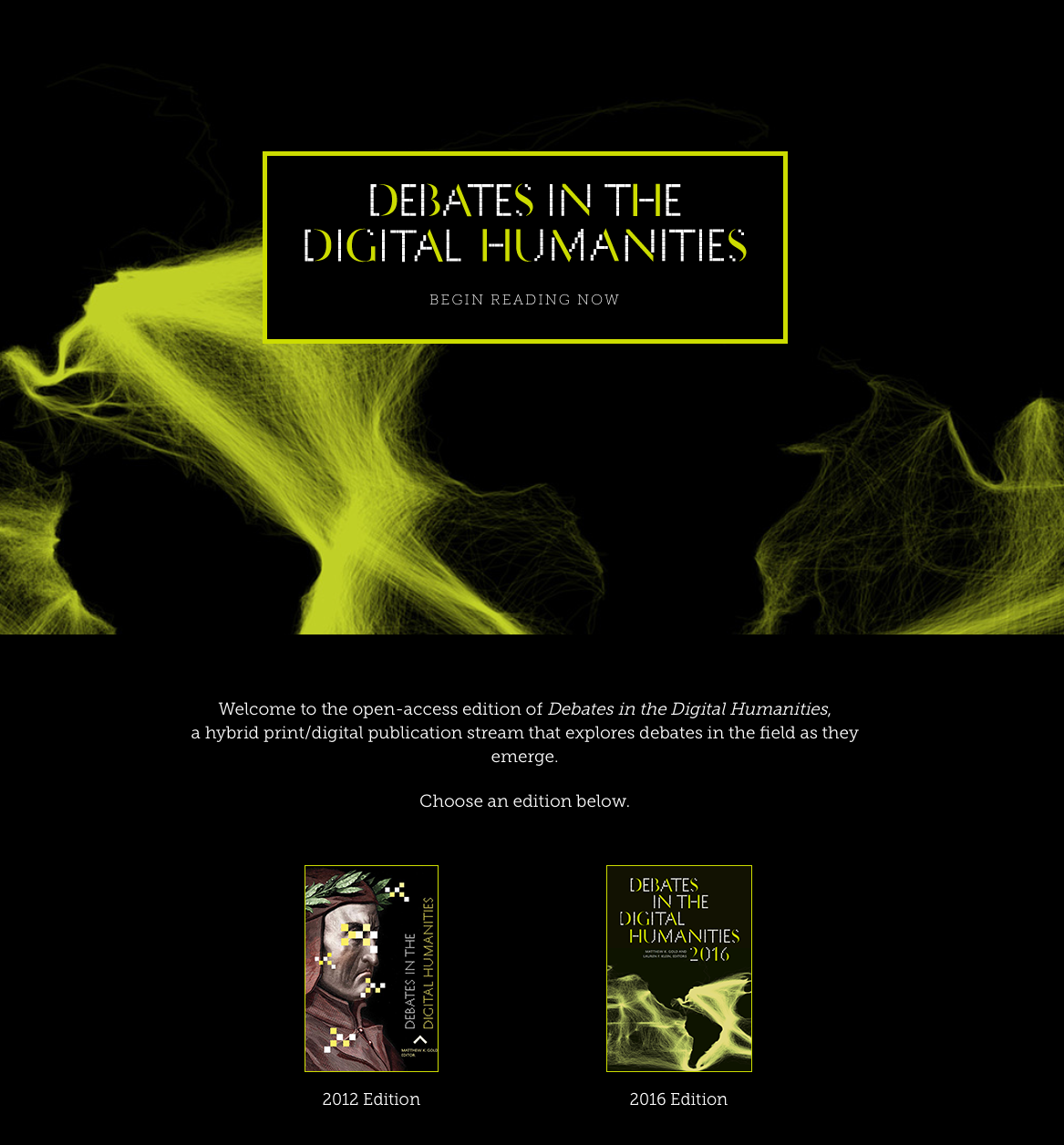 Global Debates in the Digital Humanities